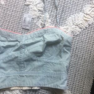 NWT American Eagle Chambray crop top